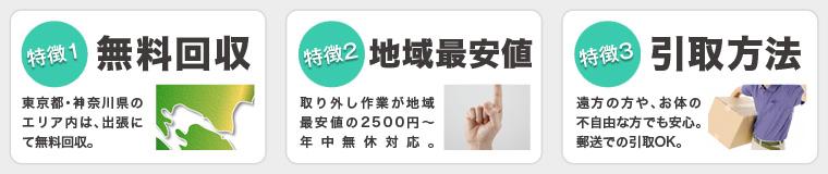 横浜市で当社がエアコンを無料回収する3つの特徴